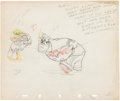 Animation Art:Production Drawing, Autograph Hound Donald Duck Animation Art Production Drawing(Walt Disney, 1939)....