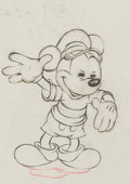 Animation Art:Production Drawing, The Whalers Mickey Mouse Production Drawing Animation Art(Walt Disney, 1938)....