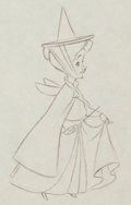 Animation Art:Production Drawing, Sleeping Beauty Fauna Production Drawing Animation Art (WaltDisney, 1959)....