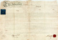 Books:World History, Land Deed in the Reign of King George III. May 25, 1808. Signed and sealed by all applicable parties. Vellum. Rubbed and sta...