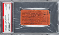 1939 Lou Gehrig Day Ticket Stub Signed by Gehrig, PSA Authentic
