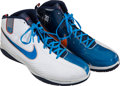 Basketball Collectibles:Others, 2009-10 Kevin Durant Game Worn Oklahoma City Thunder Sneakers....