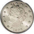 Liberty Nickels: , 1896 5C MS66 PCGS. A delicately toned Premium Gem with excellentsharpness over the major design elements. The satiny surfa...