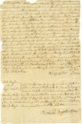 "Autographs:Statesmen, Early Delaware Politician Richard Bassett Document Signed, onepage, 8.25"" x 12.75"", Kent County, Delaware, August 10, 1772....(Total: 1 Item)"