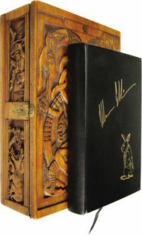 Harlan Ellison: Signed Lettered Edition of Stalking the Nightmare in Wooden Grimoire Box (Huntington Woods, Mich