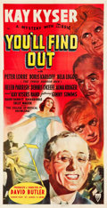 """Movie Posters:Comedy, You'll Find Out (RKO, 1940). Three Sheet (41.25"""" X 79"""").. ..."""