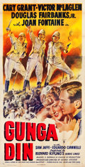 "Movie Posters:Action, Gunga Din (RKO, R-1949). Three Sheet (41"" X 79.75"").. ..."