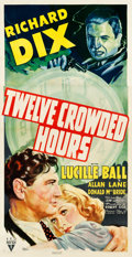 "Movie Posters:Crime, Twelve Crowded Hours (RKO, 1939). Three Sheet (41"" X 79"").. ..."