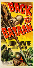 "Movie Posters:War, Back to Bataan (RKO, 1945). Three Sheet (41.25"" X 79.75"").. ..."