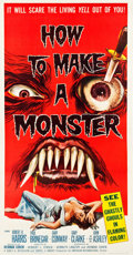 "Movie Posters:Horror, How to Make a Monster (American International, 1958). Three Sheet(41"" X 78.5"").. ..."