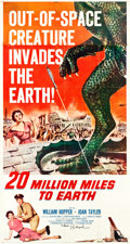 "Movie Posters:Science Fiction, 20 Million Miles to Earth (Columbia, 1957). Autographed Three Sheet(42"" X 78"").. ..."