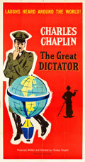 """Movie Posters:Comedy, The Great Dictator (United Artists, R-1958). Three Sheet (41"""" X80.5"""").. ..."""