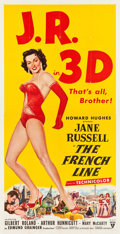 "Movie Posters:Comedy, The French Line (RKO, 1954). Three Sheet (41"" X 81"") 3-D Style....."