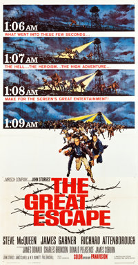 "The Great Escape (United Artists, 1963). Three Sheet (41"" X 80"")"