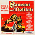 "Movie Posters:Adventure, Samson and Delilah (Paramount, 1949). Six Sheet (79.5"" X 80.5"")....."