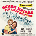 """Movie Posters:Musical, Seven Brides for Seven Brothers (MGM, 1954). Six Sheet (79.5"""" X 81"""").. ..."""
