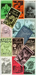 Books:Horror & Supernatural, [Pulps] [H.P. Lovecraft]. Fifteen Issues of Crypt of Cthulhu. 1984-2000. Octavos. Original printed wrappers. Varying... (Total: 15 Items)
