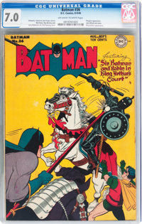 Batman #36 (DC, 1946) CGC FN/VF 7.0 Off-white to white pages