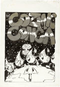 "Original Comic Art:Illustrations, Larry Rippee ""Cosmic Conga"" Original Art (1971)...."