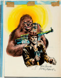 Original Comic Art:Miscellaneous, Rick Hoberg and Rudy Nebres Star Wars Hand-Painted Blue-Line Print (1977)....