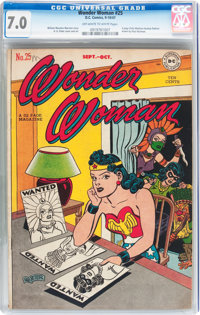 Wonder Woman #25 (DC, 1947) CGC FN/VF 7.0 Off-white to white pages