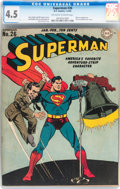 Golden Age (1938-1955):Superhero, Superman #26 (DC, 1944) CGC VG+ 4.5 Off-white to white pages....