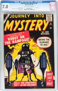 Journey Into Mystery #51 (Marvel, 1959) CGC FN/VF 7.0 Off-white to white pages