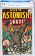 Silver Age (1956-1969):Science Fiction, Tales to Astonish #13 (Marvel, 1960) CGC GD+ 2.5 Off-white pages....