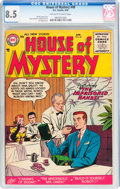 Golden Age (1938-1955):Horror, House of Mystery #49 (DC, 1956) CGC VF+ 8.5 Off-white to white pages....