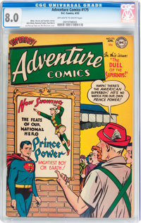 Adventure Comics #175 (DC, 1952) CGC VF 8.0 Off-white to white pages