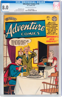 Adventure Comics #176 (DC, 1952) CGC VF 8.0 Off-white to white pages