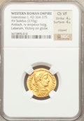 Ancients:Roman Imperial, Ancients: Valentinian I (AD 364-375). AV solidus (3.93 gm)....