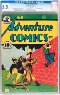 Adventure Comics #56 (DC, 1940) CGC FN- 5.5 Off-white pages