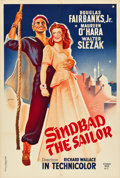"Movie Posters:Adventure, Sinbad the Sailor (Kyaw Min & Co, R-1959). French Affiche(31.5"" X 46.75"").. ..."