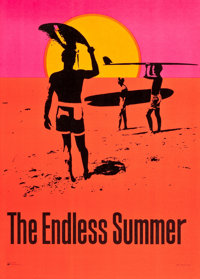 "The Endless Summer (Personality Posters, 1966). Silkscreen DayGlo Poster (29"" X 40"")"