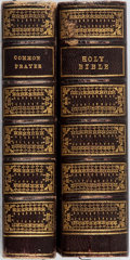 Books:Religion & Theology, [Bible]. Holy Bible. Oxford: John Collingwood, 1841. Complete in two thirtytwomo volumes. Later full morocco decorated in gi... (Total: 2 Items)