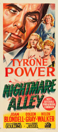 "Movie Posters:Film Noir, Nightmare Alley (20th Century Fox, 1947). Australian Daybill (13.5""X 30"").. ..."