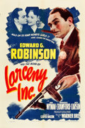 """Movie Posters:Crime, Larceny, Inc. (Warner Brothers, 1942). One Sheet (27"""" X 41"""").. ..."""
