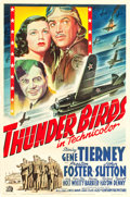 "Movie Posters:War, Thunder Birds (20th Century Fox, 1942). One Sheet (27"" X 41"").. ..."