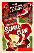 "Movie Posters:Mystery, The Scarlet Claw (Realart, R-1948). One Sheet (27"" X 41.5"").. ..."