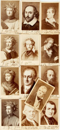 Photography:CDVs, [Carte de Visite]. Thirteen Cartes de Visite of Writers. Contemporary manuscript notes in an unknown hand. Very good. From...