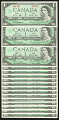 Canadian Currency: , BC-45a $1 1967 Sixteen Examples.. ... (Total: 16 notes)