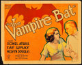 "Movie Posters:Horror, The Vampire Bat (Majestic, 1933). Title Lobby Card (11"" X 14"")....."