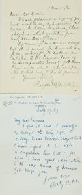 Autographs:Authors, [British Authors]. Group Lot of Autograph Letters Signed. IncludesThomas May, Ralph Mottram, Sir Compton Mackenzie, Justin ...