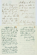 Autographs:Authors, [British Authors]. Group Lot of Autograph and Typed Letters Signed. Includes John Gibson Lockhart, Herbert Fisher, William M...