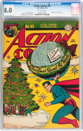 Golden Age (1938-1955):Superhero, Action Comics #93 (DC, 1946) CGC VF 8.0 Off-white pages....