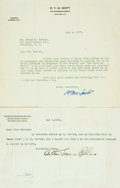 Autographs:Authors, [American Authors]. Group Lot of Autograph and Typed Letters Signed. Includes Edwin Whipple, Treadwell Walden, Arthur Somers...