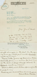 Autographs:Authors, [American Poets]. Group Lot of Autograph and Typed Letters Signed. Includes Celia Thaxter, Bayard Taylor, George Sylvester V...