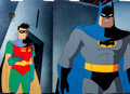 Animation Art:Production Cel, Batman: The Animated Series Batman and Robin Production Cel(Warner Brothers, 1997)....