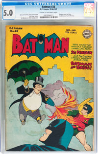 Batman #38 (DC, 1946) CGC VG/FN 5.0 Cream to off-white pages
